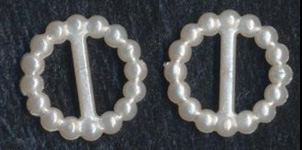 "<font color=""red"">IN STOCK</font><br>3/8"" Round Pearl Slider With 5/16"" Bar-White"