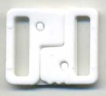 "3/4"" Interlock Closure Clasp-White"