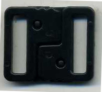 "3/4"" Interlock Closure Clasp-Black"