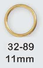"11mm Alloy Metal ""O"" Ring-Gold"