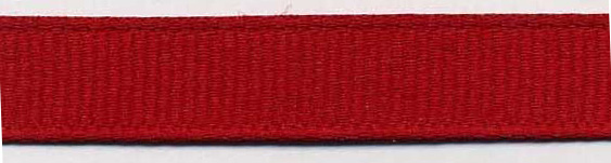 "1/4"" Poly Grosgrain Ribbon-Red"