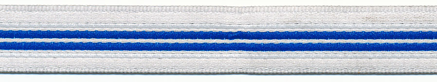 12MM Beppe Stripe Jacquard Ribbon-Royal Blue Stripe/White Background