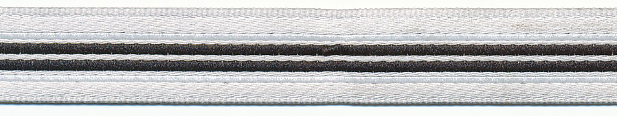 12MM Beppe Stripe Jacquard Ribbon-Black Stripe/White Background