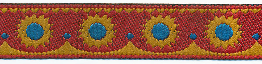 "5/8"" Pepito Pattern-Yellow/Red/Turquoise"
