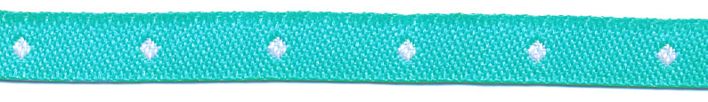 "1/4"" Polka Dot Jacquard Ribbon-Mint/White"