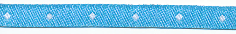 "1/4"" Polka Dot Jacquard Ribbon-Blue/White"