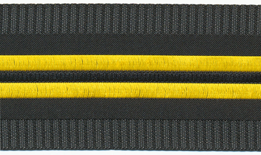 42MM Caerano Jacquard Ribbon-Black/Yellow