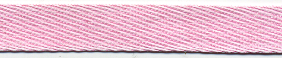 "5/8"" Wide Twill Tape-Alternating Pink/White Combo<br>see Special Pricing Tab"