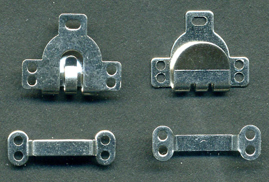 "11/16"" Wide 2 Piece Pant or Skirt Hook Eye Set-Silver"