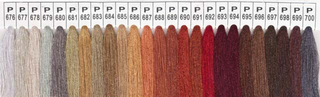 Color Chart 4 - Please specify the color number
