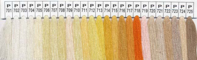 Color Chart 5 - Please specify the color number