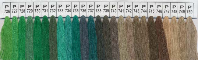 Color Chart 6 - Please specify the color number