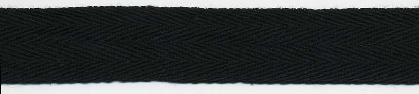 "1/2"" Basic Cotton Twill Tape Black"