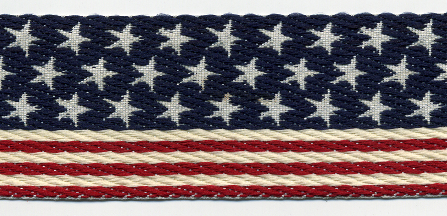 "1.5"" Wide Light Webbing Band-American Flag Pattern"