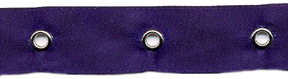 "5/8"" Width Satin Ribbon With 1.5"" Spaced Eyelets<br>Navy Satin Ribbon, Nickel Eyelets"