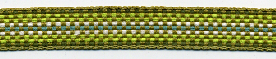 "1/2"" Poly Ombre Braid-Green Combo"