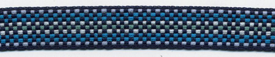 "1/2"" Poly Ombre Braid-Blue Combo"