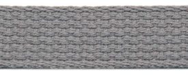 "1"" Cotton Webbing-Grey"
