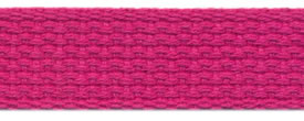 "1"" Cotton Webbing-Fuschia"
