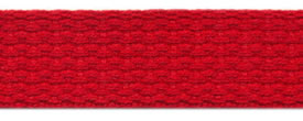 "1"" Cotton Webbing-Red"