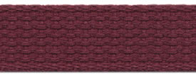 "1"" Cotton Webbing-Maroon"