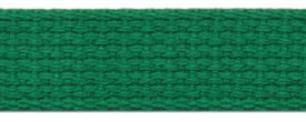 "1"" Cotton Webbing-Kelly Green"