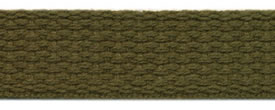 "1"" Cotton Webbing-Olive"