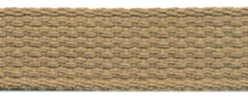 "1"" Cotton Webbing-Buff"