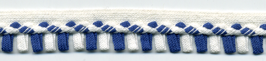 "5/8"" Cotton Picot Edge-Yale Blue With White Apron"