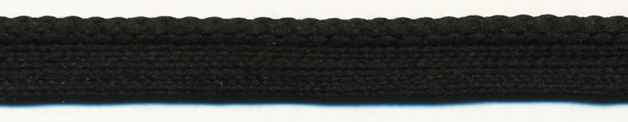 Basic Poly Cordedge-Black Edge With Black Apron<br>$0.05 per yard, see Special Pricing Tab