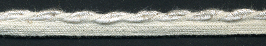 "1/2"" Rayon/Flax Braided Cordedge-Linen Color"