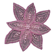 Pearl and Beaded Star Flower - Applique