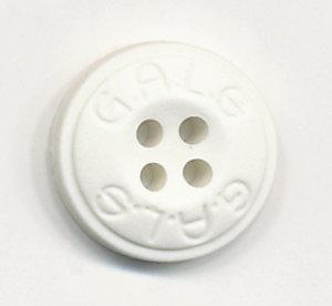 24L Gals 4-hole Button-White - Plastic Buttons