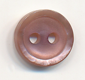 16L Basic 2-Hole Button-Dark Rose - Plastic Buttons