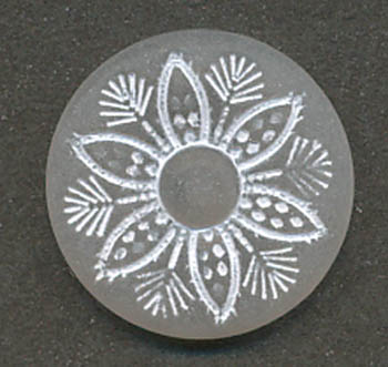 24L Daisy Shank Button-Crystal/White - Plastic Buttons