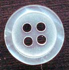 16L 4 Hole Pearlized Button-White Clear - Plastic Buttons