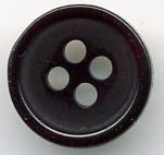 18L 4 Hole Pearlized Button-Black - Plastic Buttons