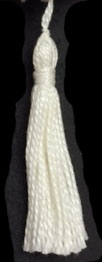 "2"" Cotton Tassel-White - Single Tassels"
