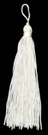 "4"", 48 end, Rayon Tassel-Ivory - Single Tassels"