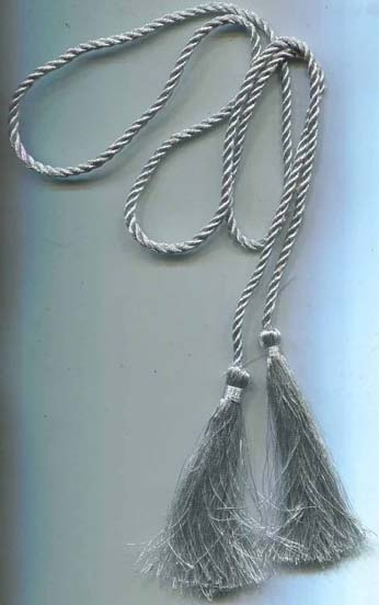 "40"" Twist Cord Tassel Belt-Grey - Tassels on Cord"