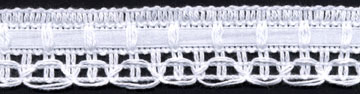 "1 1/16"" Cotton Crochet Lace Edge With Beading-White - Crochet/Knit Lace"