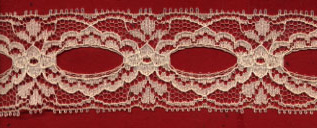 "1 1/2"" Polyester Beading-Natural - Raschel Lace"